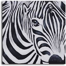 zebra perspective painting on wrapped canvas