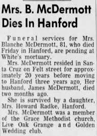 Obituary for B. McDermott (Aged 81) - Newspapers.com