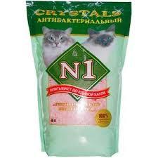 <b>Наполнитель N1 Crystals</b> антибактериальный <b>впитывающий</b> ...