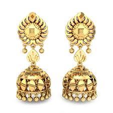 Latest Gold Jhumka Earrings Design With Price In India Bhavini Gold Jhumka