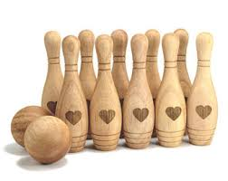 Game Of Skittles Wooden Personalized Bowling Set Wooden toy Wooden Bowling Game Wooden 78