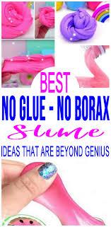 diy slime no glue recipes how to make homemade slime without glue or borax