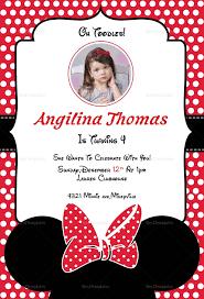 Minnie Mouse Invitation Design Birthday Minnie Mouse Invitation Card Template