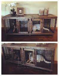 homemade dog kennels 2. Rustic Indoor Dog Kennel Furniture Homemade Kennels 2