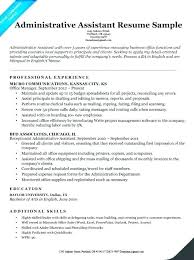 Office Administrative Assistant Resume Samples Resume Template For Office Assistant Joefitnessstore Com