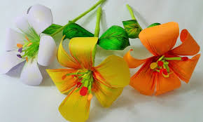 Make Flower With Paper How To Make Paper Flower 5 Steps With Pictures