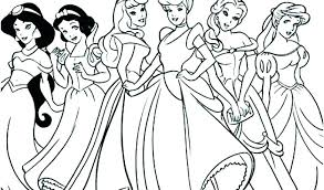 All Disney Princesses Colouring Pages All The Princesses Colouring