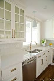 Glass Kitchen Cabinet Handles Kitchen White Kitchen Ideas Brass Cabinet Hardware Glass Tiled