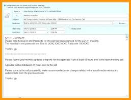 Meeting Request Email Template Sample Conference Call Invite ...