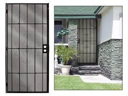 security screen door. Security Screen Doors Black Color Door