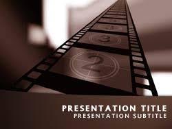 Movie Powerpoint Template Royalty Free Movie Powerpoint Template In Orange