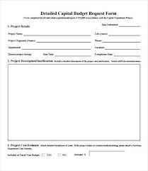 Budget Form Fascinating Project Request Form Template Excel Budget Business Sample Change
