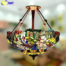 stained glass hanging lamp stained glass hanging vintage stained glass hanging