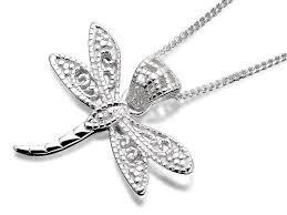 default image silver dragonfly necklace f3369alternative image1 compare product information