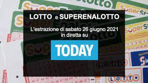 Estrazioni Lotto oggi e numeri SuperEnalotto di sabato 26 giugno 2021