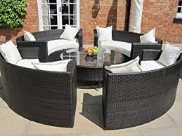 circular furniture. lauren luxury grey rattan garden furniture circular sofa and coffee table set o