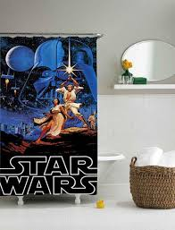 stunning design star wars shower curtain fascinating retro from sarbotexas on