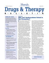 Why Isnt Hydrocodone Listed In Formulary The Formulary Update