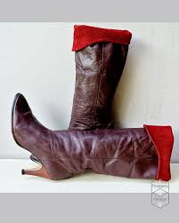 Oxblood leather boots / dark plum boots ...