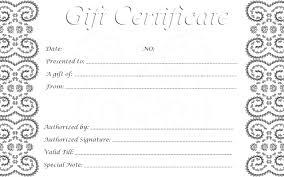 Plain Gift Certificate Template Gift Certificate Templates Free For Word Barca Fontanacountryinn Com