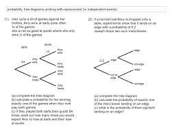 Tree Diagram Worksheets - Checks Worksheet
