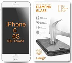 iphone 6 screen protector labc iphone 6 tempered glass iphone 6 hd tempered diamond amazoncom tempered glass