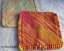 Easy Knit Dishcloth Pattern Enchanting Easy Knit Dishcloth