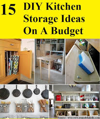 15 diy kitchen storage ideas on a budget home and life tips in diy kitchen storage