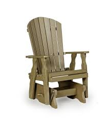 Amish FanBack Single Poly Lumber Patio Glider Chair