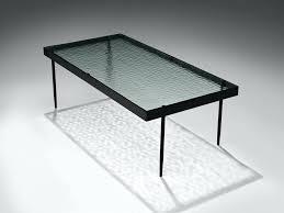 van pelt for coffee table glass metal tiffany black high gloss rectangular with led lighting