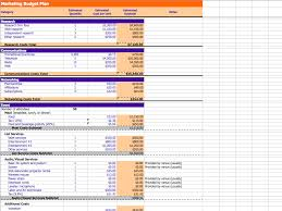 Samples Of Budget Spreadsheets Marketing And Budget Excel Sheets Excel Xlsx Templates