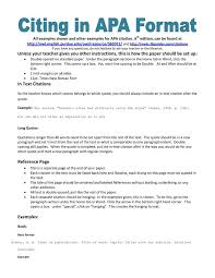 How Do I Format A Block Quote With Apa Formatting Cwi In Apa Custom Apa Quote Format