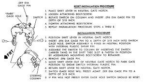 repair guides instruments and switches back up light neutral Ford Neutral Safety Switch Wiring Diagram 1 installation and adjustment of the early model bolt on back up lamp neutral safety switch ford c4 neutral safety switch wiring diagram
