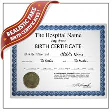 Fake Birth Certificate Fake Certificate Of Birth Buyafakediploma Com