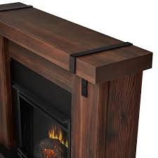 real flame aspen 49 inch electric fireplace with mantel chestnut barnwood 9220e chbw gas log guys