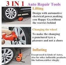 Most car jacks have a slot at the top, on their engagement flange, that slips onto the jack point's step 5: 3in1 12v Car Jack Impact Wrench Tire Inflator Buy Online At Best Price In Uae Amazon Ae