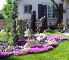 Small Picture Small Garden Yard With Cute Purple Plants Contemporary beautiful