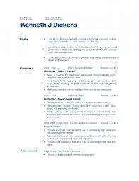 Sample Resume For Restaurant Jobs   Resume Template Example