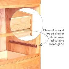 wood drawer slides making wooden drawer slides the slides mounted inside the chest are spring loaded wood drawer slides making