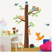 Kindergarten Height Chart Squirrel Tree Height Measure Cartoon Wall Sticker 221ab For Kids Rooms Height Chart Decal Kindergarten Children Room Decor Art Wall Sticker Art Wall