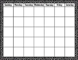 Teacher Created Resources Calendar Chart Black White Crazy Circles 7718
