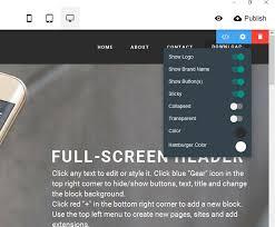 Full Screen Menu In Good Free Website Builder