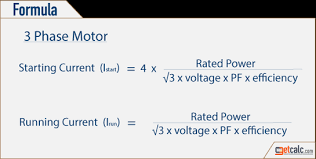 Motor Full Load Amps Chart Motor Starting Running Current Calculator
