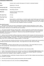 Exciting Character Reference Sample In Resume Free Example And