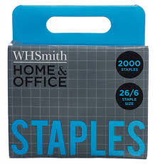 Whsmith Home Office Staples 26 6 Pack Of 2000