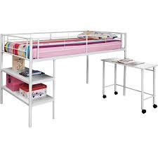 walker edison btld46spwh twin loft bed