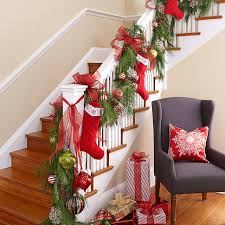 Classic Christmas Stairs transitional-staircase