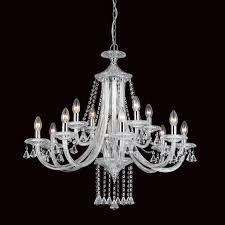 Impex Calgary 12 Light Chrome Crystal Candle Chandelier CF112151/12/CH ...