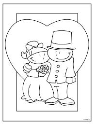 Kleurplaat Trouwen Huwelijk Kleurplatennl