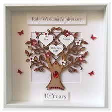 image is loading personalised ruby wedding 40 years anniversary gift picture